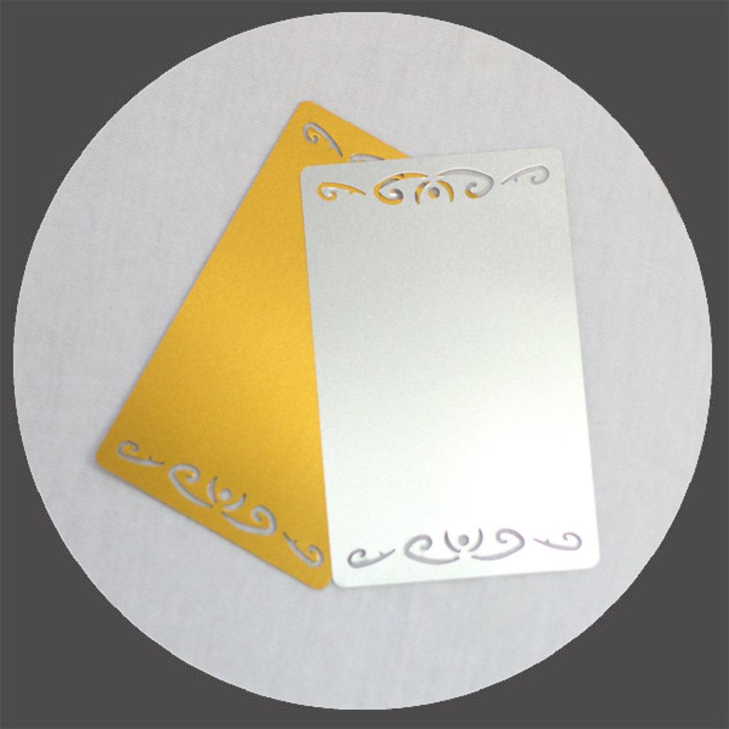 Визитки и визитницы из металла: Визитка для сублимации фигурная в NeoPlastic