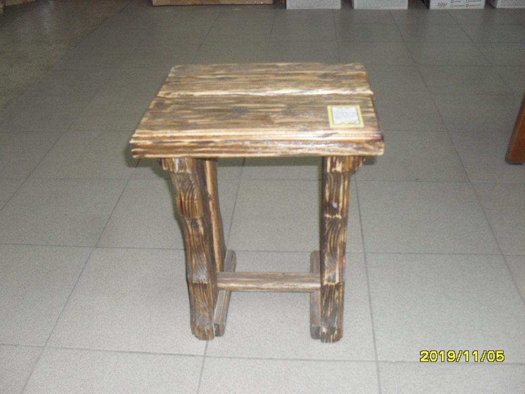 Мебель для саун и бань: табурет состаренный массив (хвоя) в Погонаж