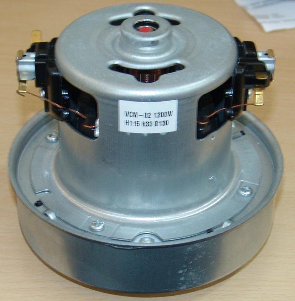 Запчасти для пылесосов: Мотор (двигатель) пылесоса 1200w, H=115/44mm, D130mm,  VCM-02 1200 w,  зам. VAC021UN, 11me63 в АНС ПРОЕКТ, ООО, Сервисный центр