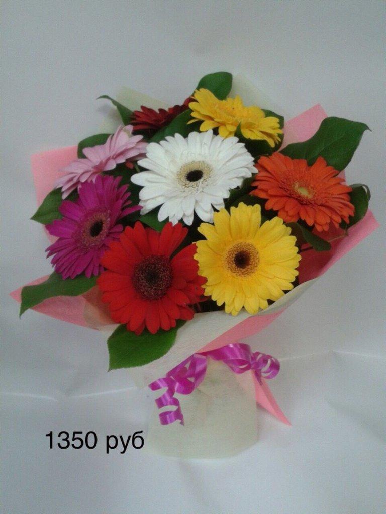 Букеты: Букет герберы ассорти в Николь, магазины цветов