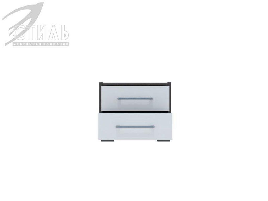 Мебель для спальни Луиза (венге / белый металлик): Тумба прикроватная Луиза (венге / белый металлик) в Диван Плюс