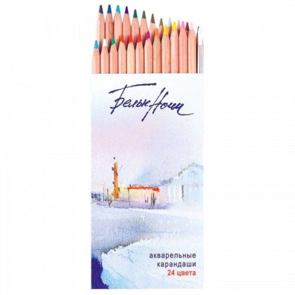 Акварельные карандаши: Набор акварельных карандашей с кистью Белые ночи 24цв. в Шедевр, художественный салон