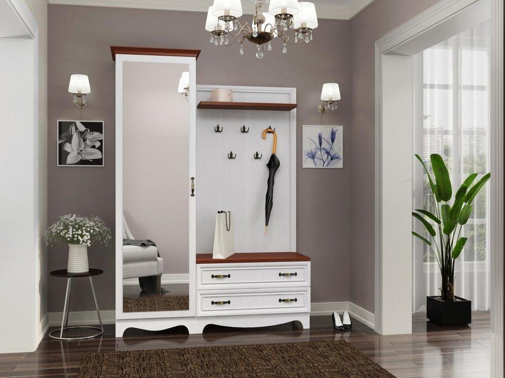 Мебель для прихожей Вентура. Модули: Шкаф для одежды с зеркалом Вентура ИД 01.139 в Диван Плюс