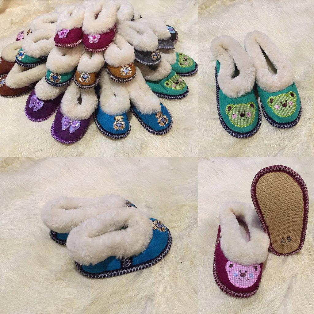 Обувь подростковая и детская: Чуни из натуральной овчины (р.21-30) в Сельский магазин