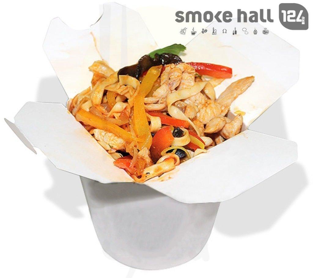 Лапша WOK: Лапша с курицей, грибами и овощами в Restorant SH