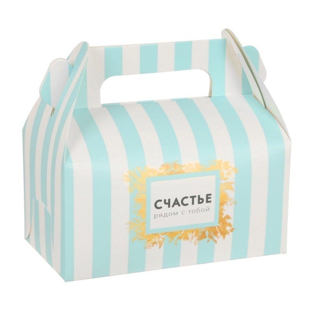 """Коробки для кондитерских изделий: Сундучок для сладкого """"Счастье рядом с тобой"""" 9х16х12 см в ТортExpress"""
