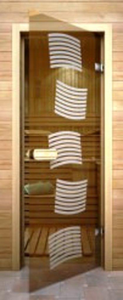 Двери для бани и сауны: Термостеклянные двери с матированием в Сельский магазин
