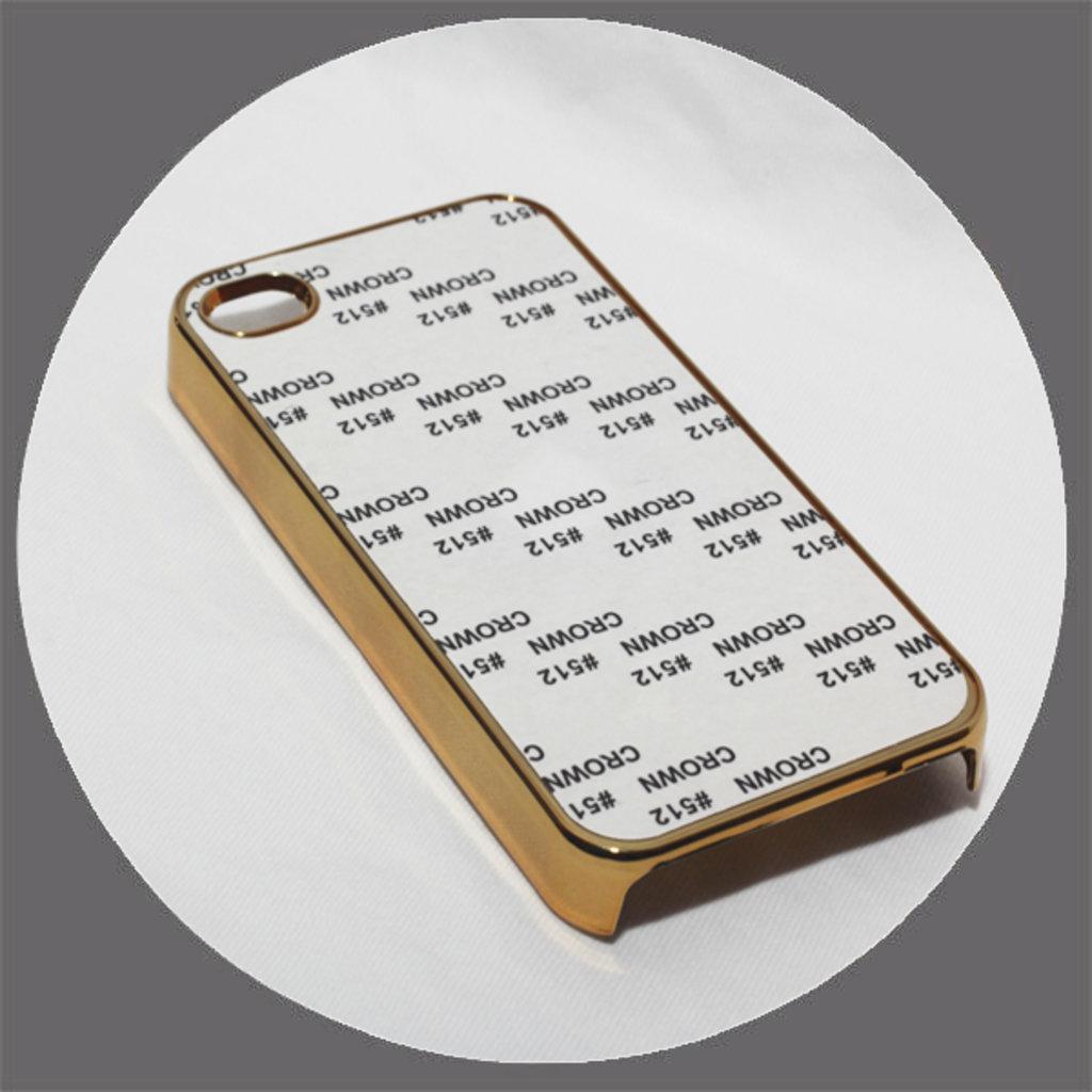 Apple: Чехол для IPhone 4 и 4s Металлизированный Золото в NeoPlastic