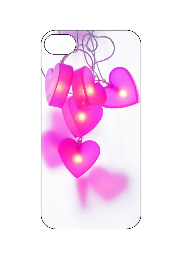 Выбери готовый дизайн для своей модели телефона: Сердца в NeoPlastic