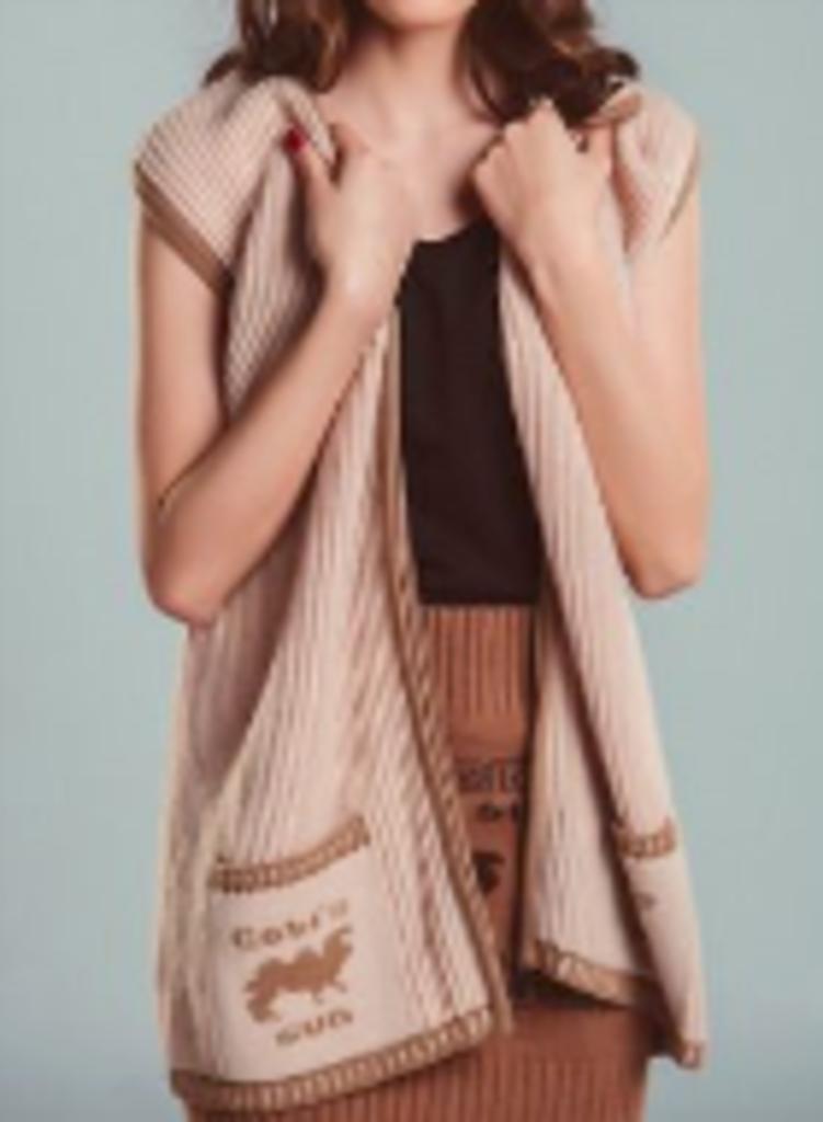 Женская одежда: Жилет вязаный из шерсти верблюда в Сельский магазин
