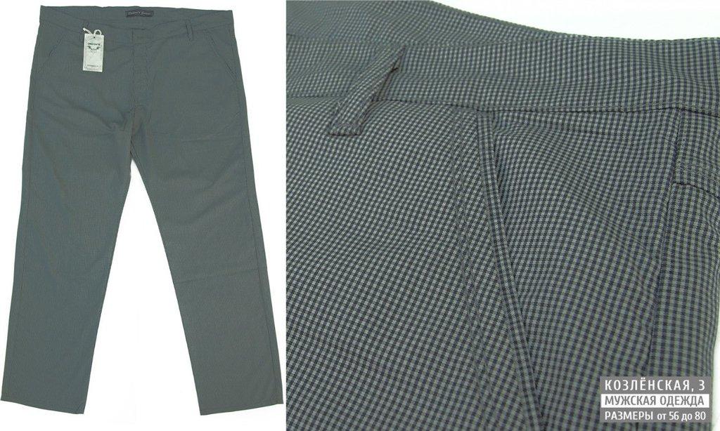Классические брюки: Легкие мужские летние брюки в мелкую клетку в Богатырь, мужская одежда больших размеров