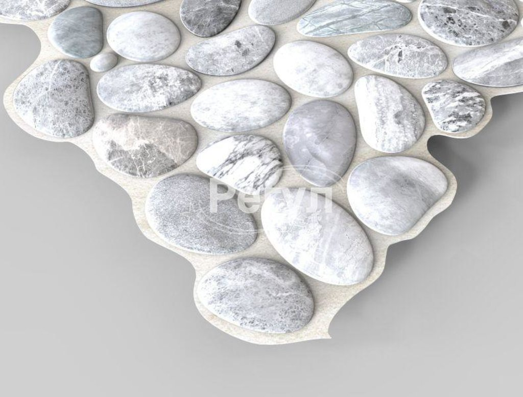 Панели ПВХ: Камень Галька серая в Мир Потолков