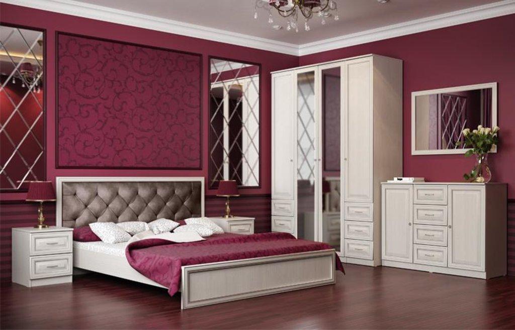Модули спальни Габриэлла: Кровать двуспальная 06.15 1600 Габриэлла с настилом в Vesa