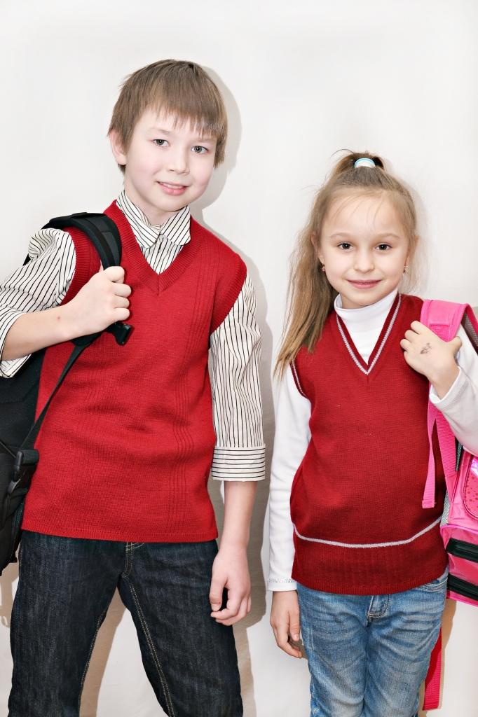 Школьная форма: Жилет трикотажный для школы и офиса. в Новый взгляд