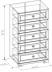 Комоды для дома: Комод БРИЗ 6 в Стильная мебель