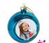 ФОТОСУВЕНИРЫ: Елочный шар с фото стеклянный цветной в Pixel