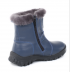 Обувь подростковая и детская: Полусапожки детские. Натуральная кожа. Темно-голубые. Молния. в Сельский магазин