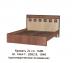 Кровати: Кровать Коста-Рика (1600, орт. осн. дерево) в Стильная мебель