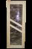 Двери для саун и бань: Дверь банная (остекленная из полога) стекло цвет бронза  70х1900 см, с петлями. в Погонаж